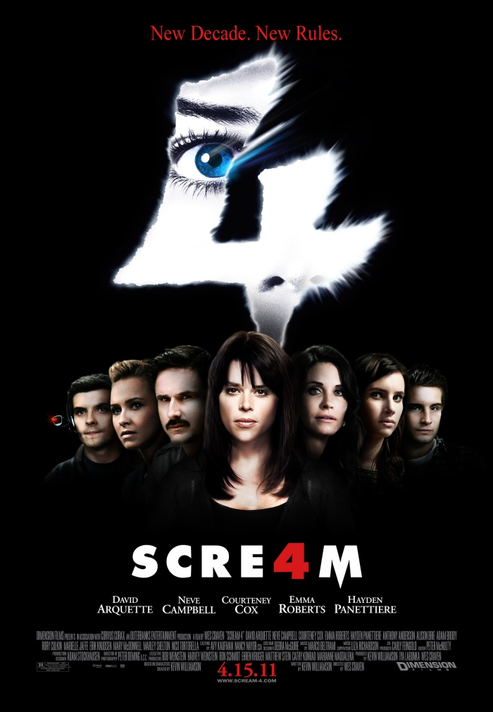 "Theatrical poster for ""Scream 4"" Dimension Films"